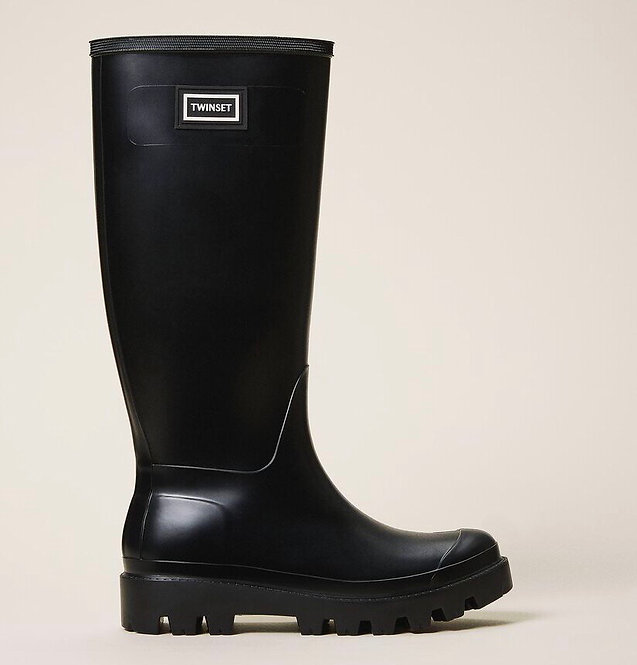 TWINSET RAIN BOOTS WITH LOGO