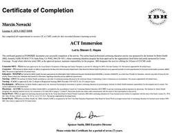 Kurs ACT Immersion