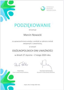 Ogólnopolskie Dni Uważności 2020