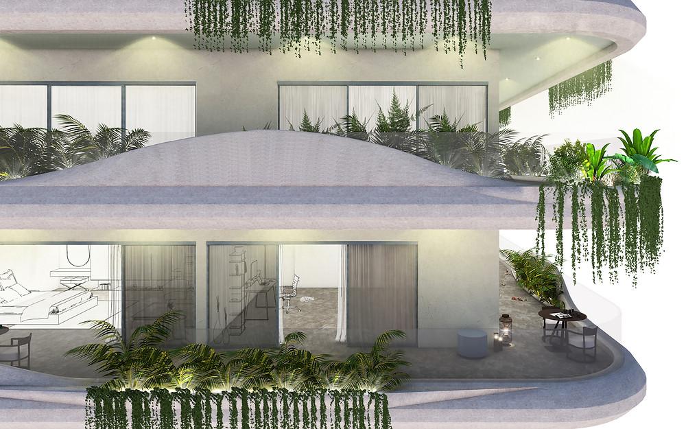 Facade design Oudong Residence, Cambodia