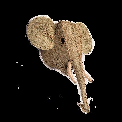 Tête trophée tressée éléphant