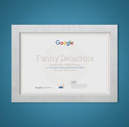 Certification Google Fanny Delacroix