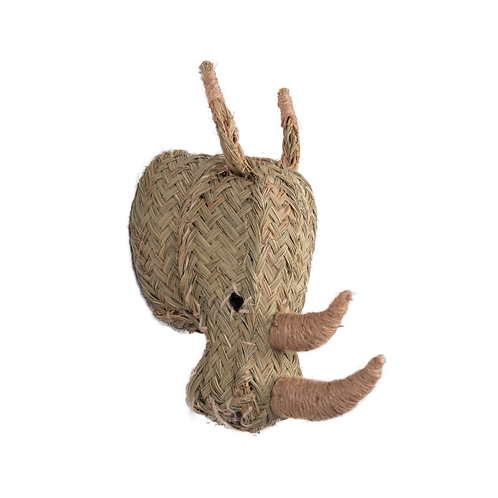 Tête trophée tressé rhinocéros