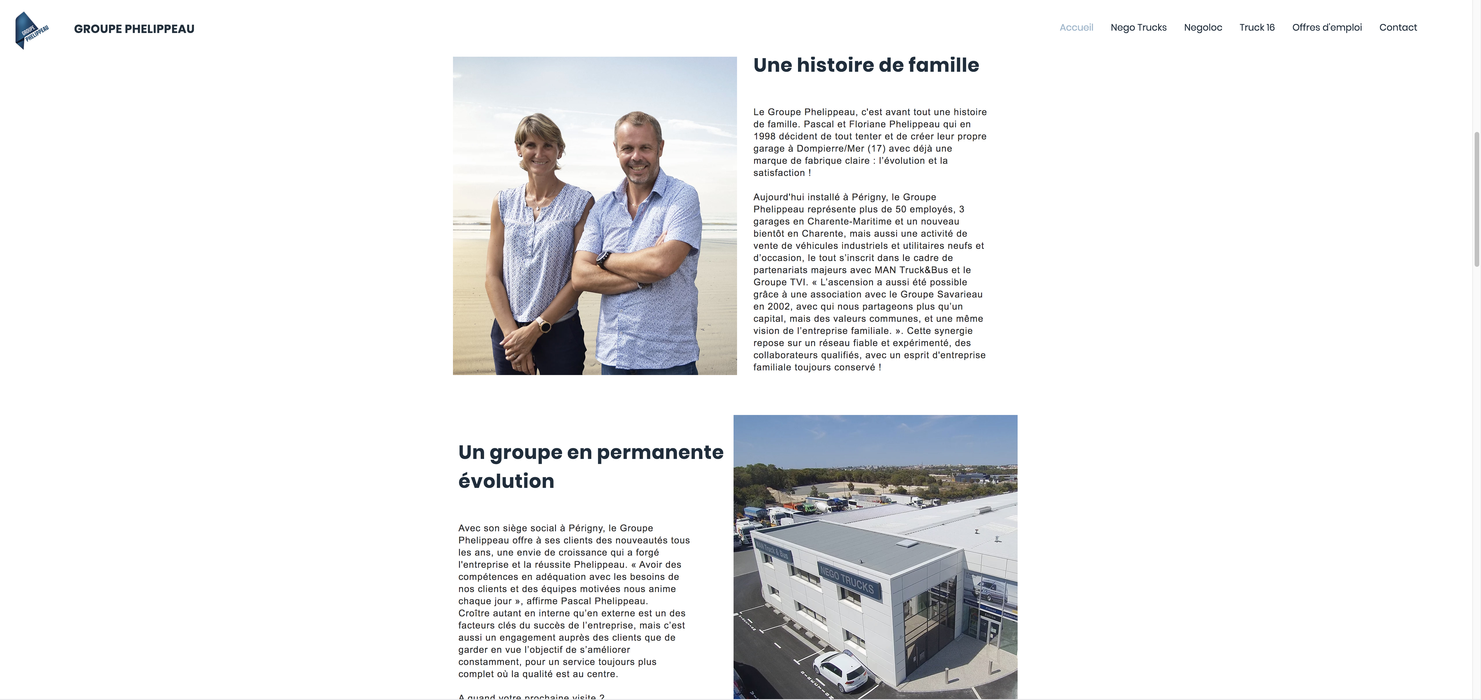 Site Groupe Phelippeau accueil 2