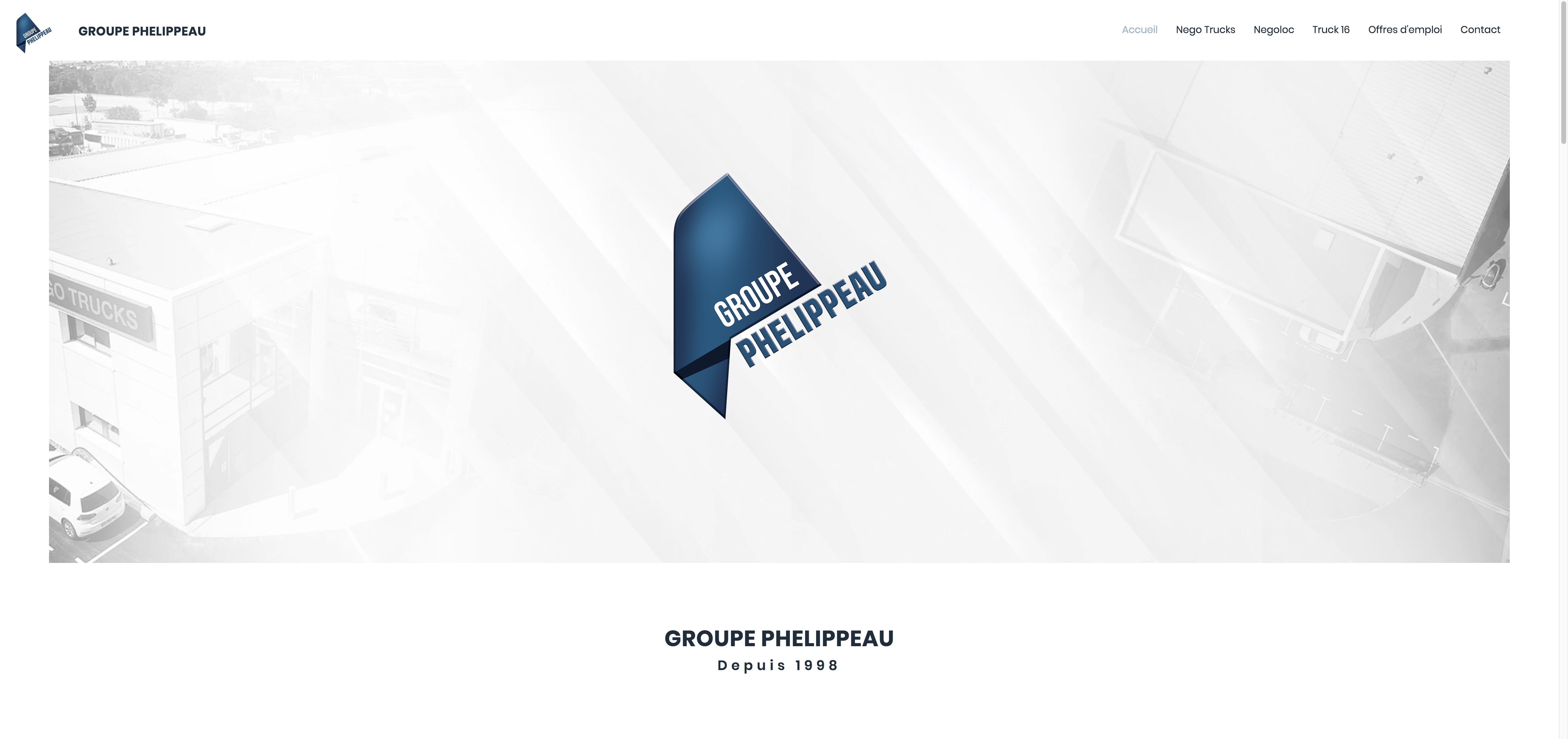 Site Groupe Phelippeau accueil 1
