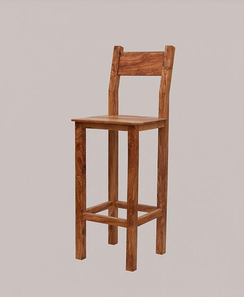 Chaise haut en bois d'olivier