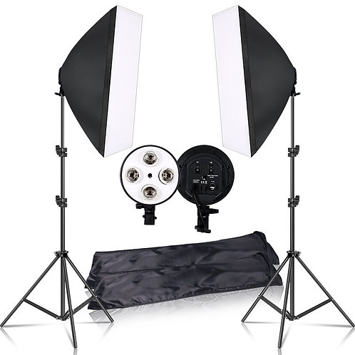 Photography 50x70CM Lighting  Four Lamp Softbox Kit