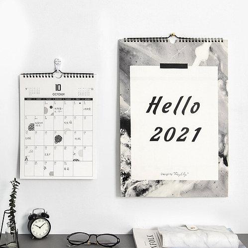 Hello 2021 Creative Wall Calendar