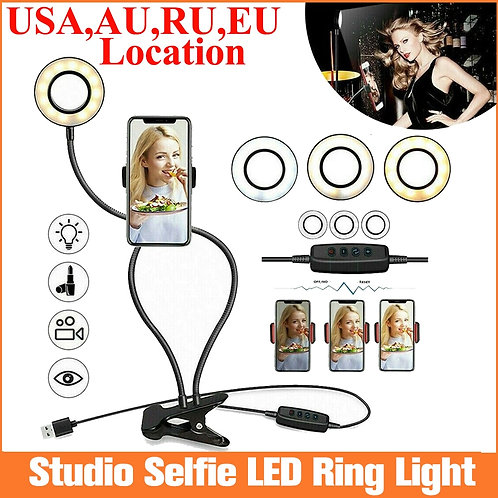 Dimmable USB LED Selfie Ring Light with Stand