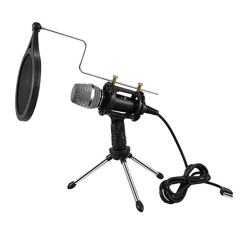 Professional USB Microphone Condenser for Computer or Laptop