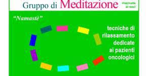 """LA CURA OLTRE LA CURA. MEDITAZIONE. Meditazione in gruppo """"Namastè"""""""
