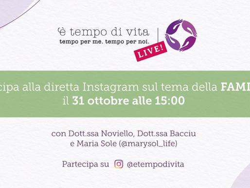 DIRETTE. La dottoressa Maria Rita Noviello in diretta su E' tempo di vita - Instagram
