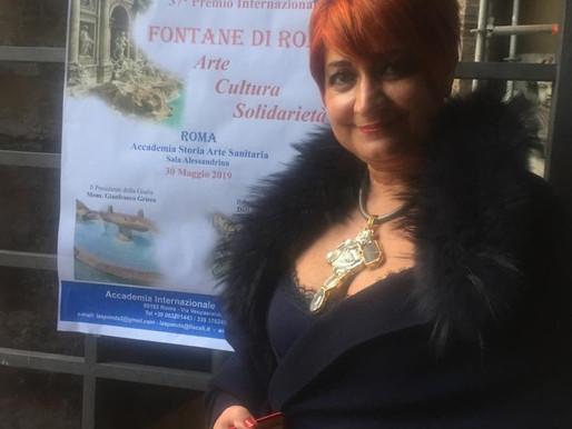 """PREMI. Premio Internazionale """"Fontane di Roma"""" alla dottoressa Maria Rita Noviello, oncologa"""