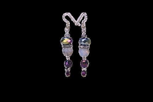 Beaded Earrings in Purple