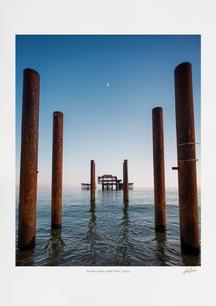 'Moon Over West Pier' 2021