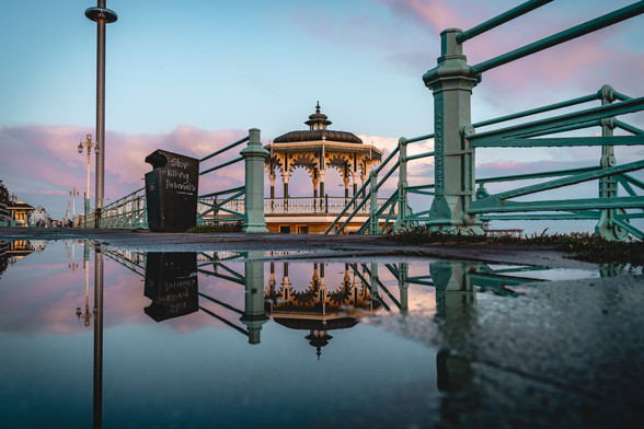 Band Stand Reflections