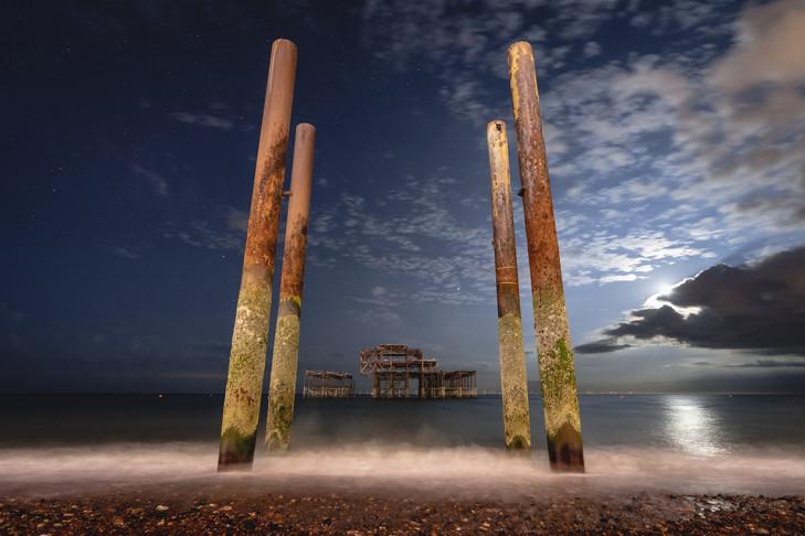 West Pier by Night