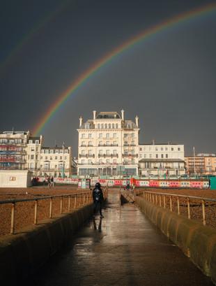 Double Rainbow over the Mercure Hotel