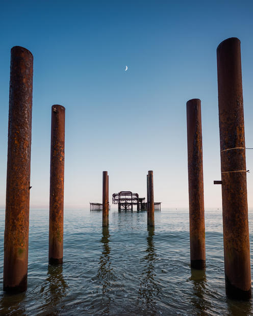 West Pier & Crescent Moon