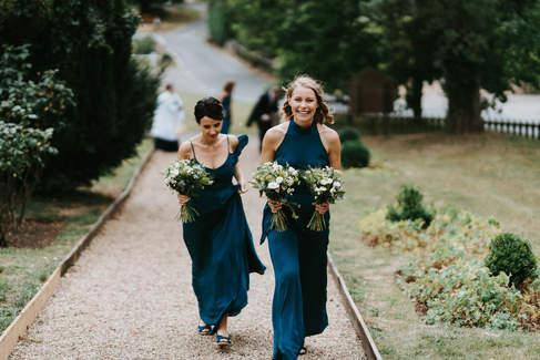 Bridemaids Arrving at church