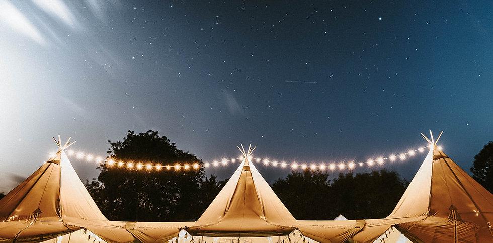 Tipi Wedding Lights