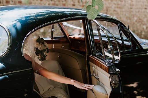 Firle Place Wedding Classic car