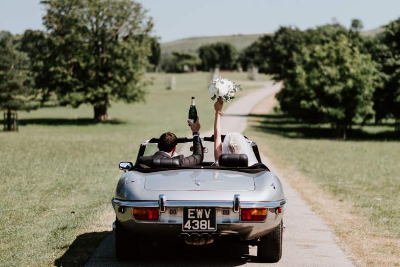 -type Jaguar Firle Place Wedding