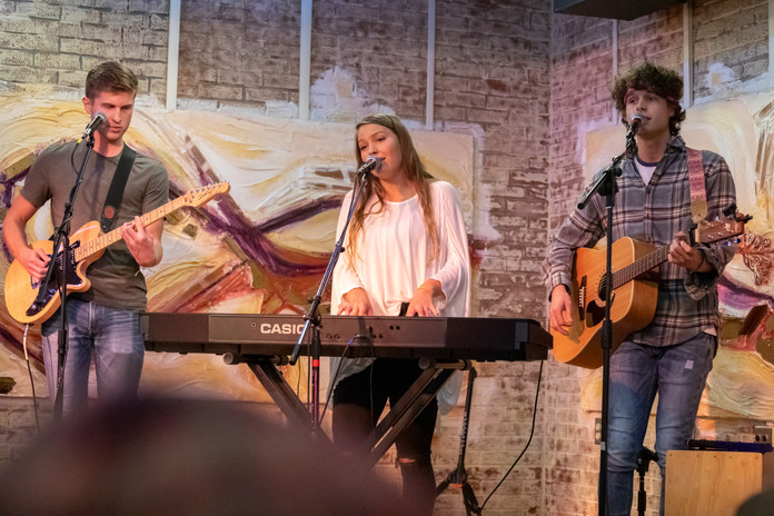 Photo by Rachel Kaye Holderman during our concert at Common Grounds.