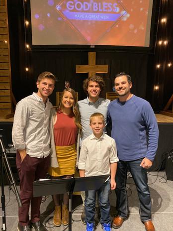 With cousins Abe & Ezra.