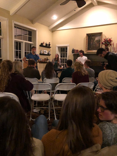 House concert at the Masts.