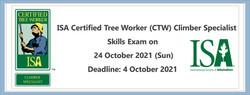 ISA Certified Tree Worker (CTW) Climber Specialist Skills Exam on 24 Oct 2021