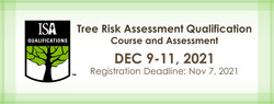 Tree Risk Assessment Qualification course and assessment at Dec 9-11