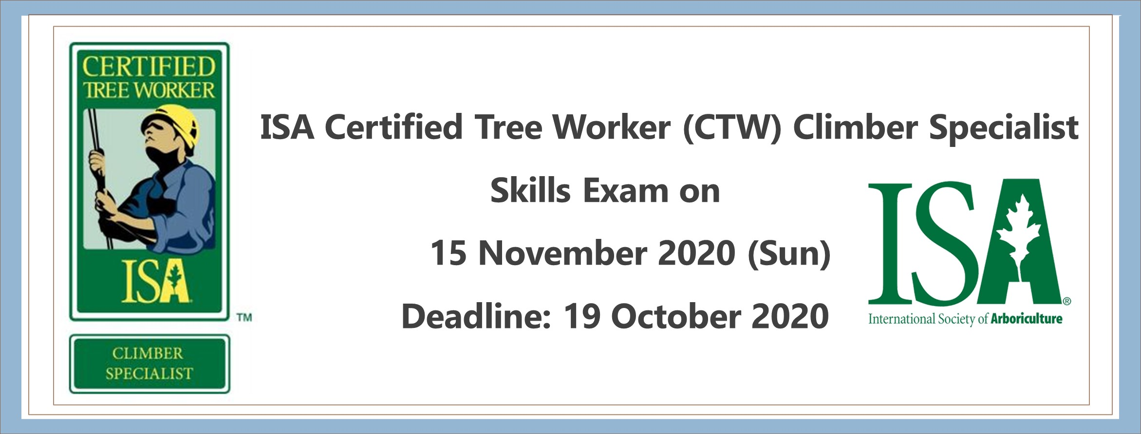 ISA Certified Tree Work Climber Specialist Skills Exam