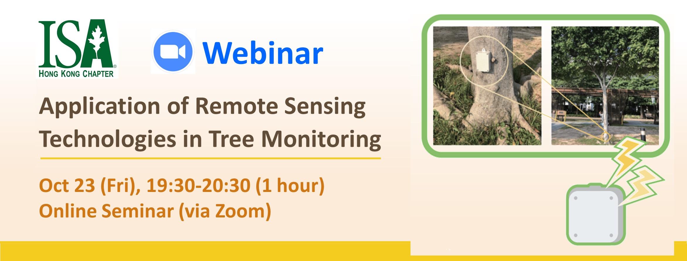 Webinar: Application of Remote Sensing Technologies in Tree Monitoring