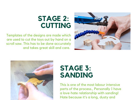 The toy making process.