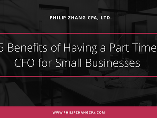 5 Benefits of Having a Part Time CFO for Small Businesses