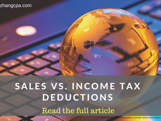 """Sales Vs. Income Tax Deductions"""