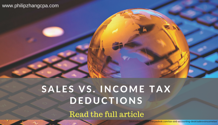 Sales Vs. Income Tax Deductions