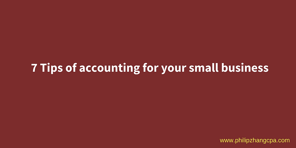 7 Tips of accounting for your business