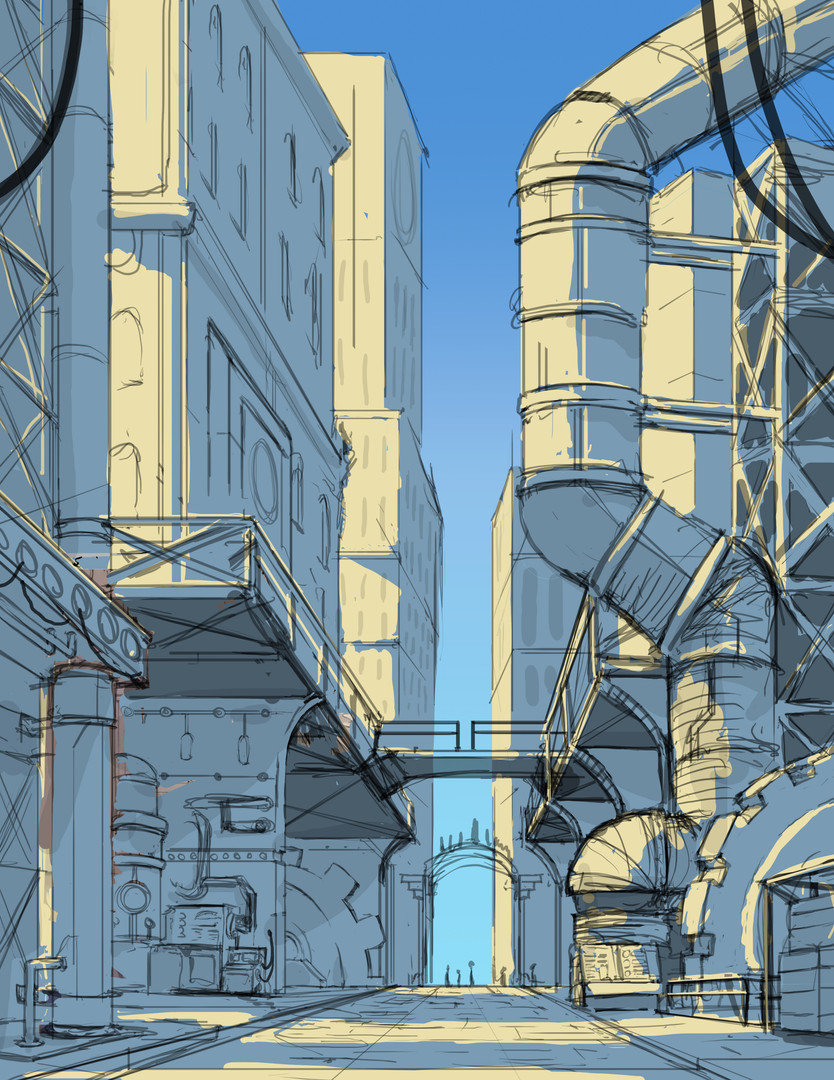 Concept Art: Adventure Castle Inner Workings