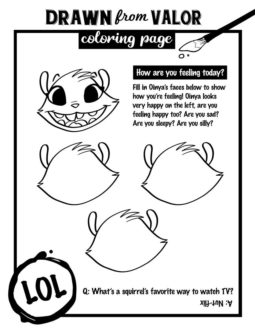 Emotes Coloring Page