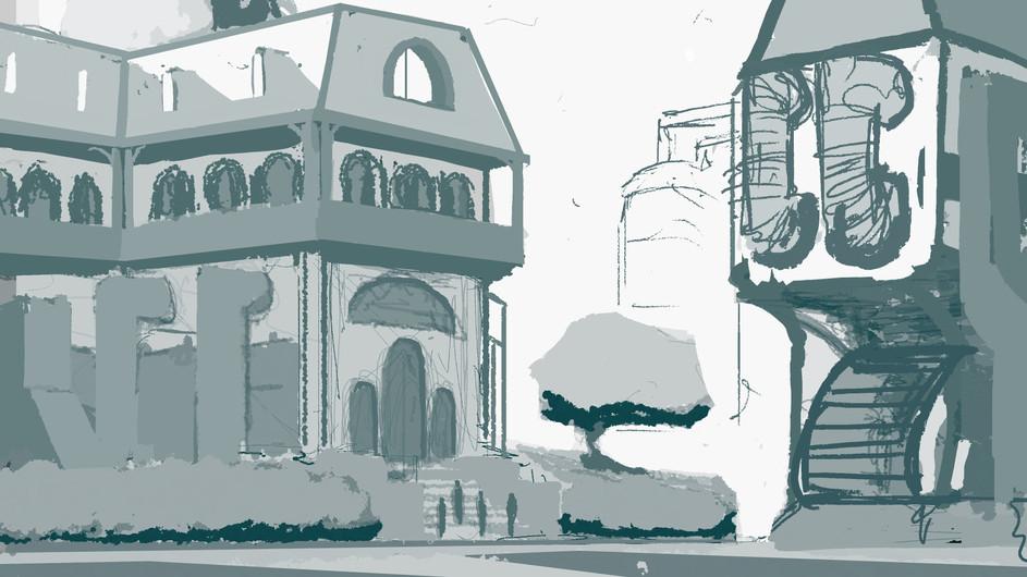 Adventure Castle Sketch