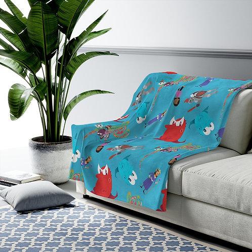 Kara and Beastie - Velveteen Plush Blanket