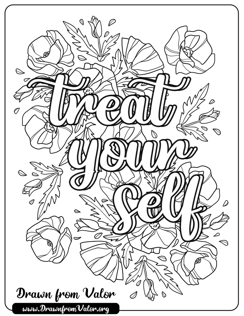 Treat Yourself Coloring Page