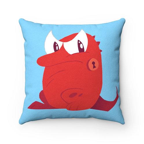 Red Beastie Blue Beastie - Faux Suede Pillow