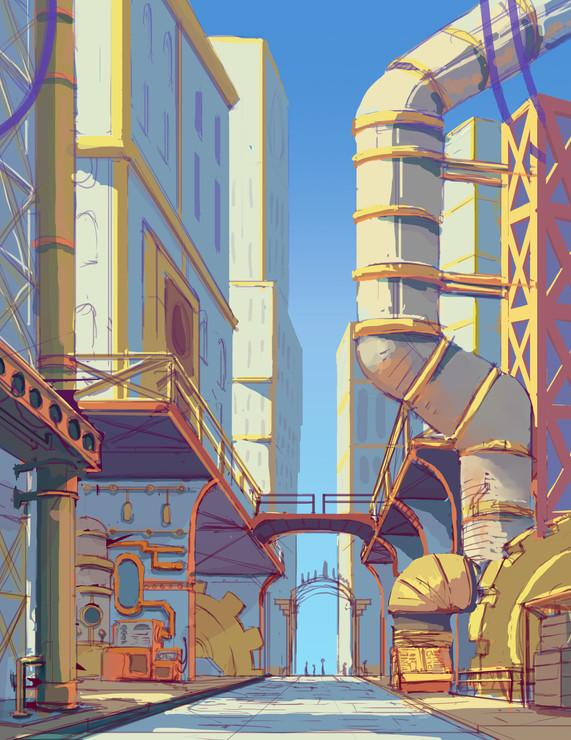 Concept Art (with Color): Adventure Castle Interior