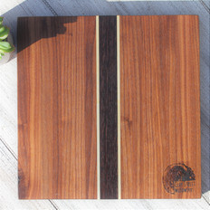 Walnut Cutting Board with Maple and Wenge Stripes