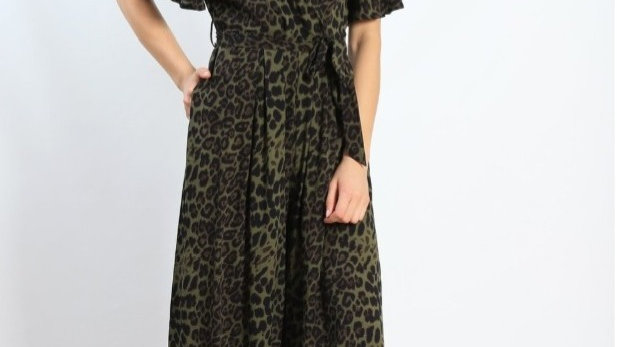 Jungle green jumpsuit