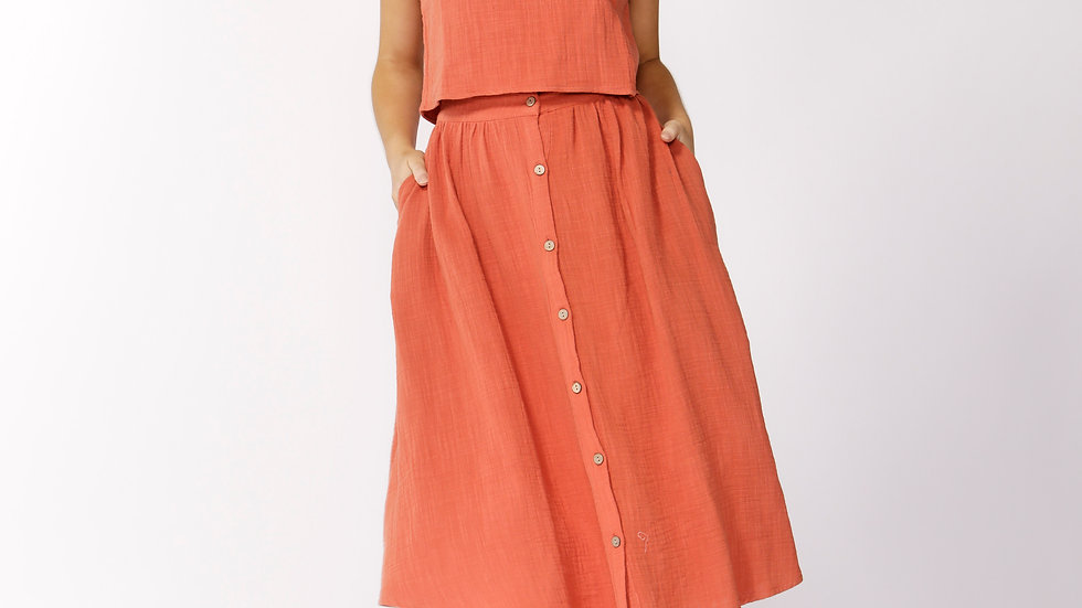 Taylor Skirt - burnt orange left