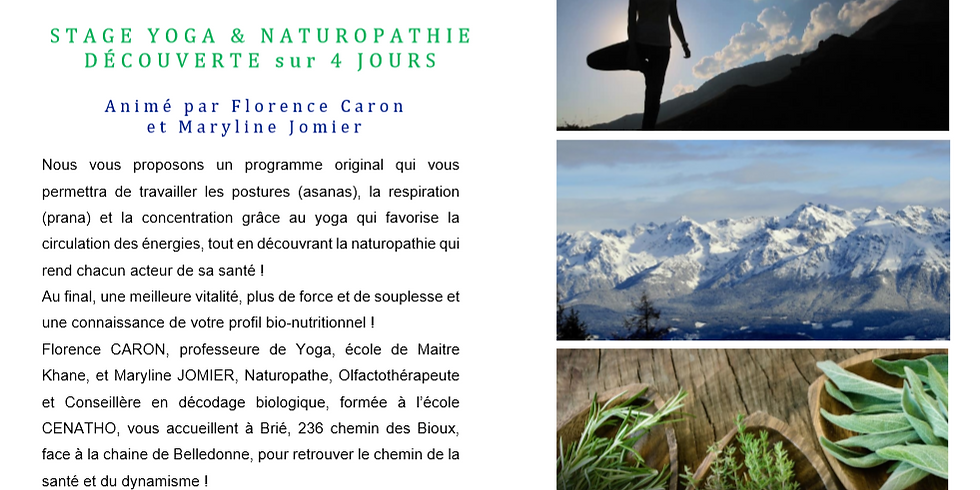 Stage YOGA & NATUROPATHIE